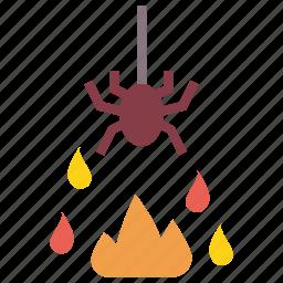 evil, fire, halloween, horror, spider icon