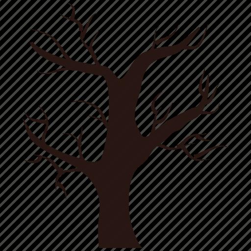 ghost, halloween, tree icon