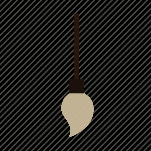 broom, flying, halloween icon