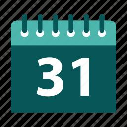 agenda, appointment, calendar, last day icon