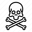 bone, bones, crossbones, halloween, pirate, scull icon