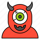 avatar, cyclops, halloween, monster, spooky icon