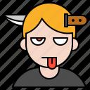 avatar, halloween, head, knife, spooky icon