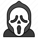 avatar, halloween, scary mask, scream, spooky icon