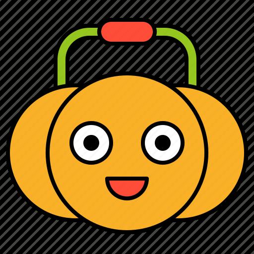 avatar, basket, halloween, pumpkin, spooky icon