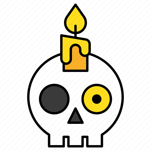 avatar, candle, halloween, skull, spooky icon