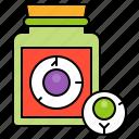 bottle, disgusting, eyeball, halloween, spooky icon