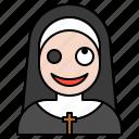 avatar, demon, halloween, nun, spooky