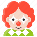 avatar, clown, halloween, spooky icon