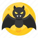 bat, halloween, vampire, spooky icon