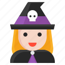 avatar, halloween, spooky, witch, wizard icon