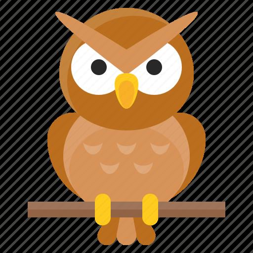 animal, avatar, bird, halloween, owl, spooky icon