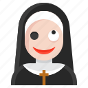 avatar, demon, halloween, nun, spooky icon