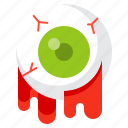 disgusting, eyeball, halloween, spooky icon