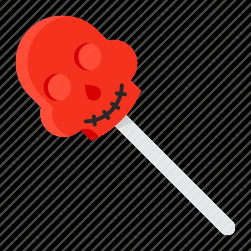 halloween, lollipop, skull, spooky, sweets icon