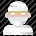 avatar, halloween, mummy, spooky icon
