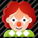 avatar, clown, halloween, spooky icon