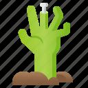 halloween, hand, spooky, zombie icon