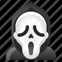 avatar, halloween, scary mask, scream, spooky icon