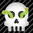 avatar, halloween, skull, snake, spooky icon