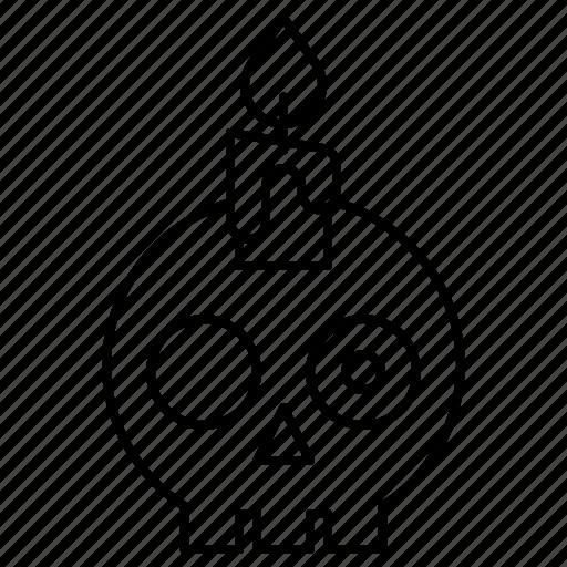 avatar, candle, halloween, skull, spooky icon
