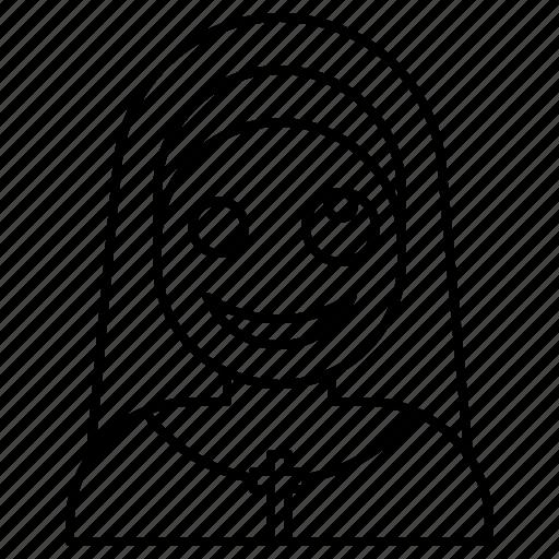 avatar, demon, halloween, nun, spooky icon