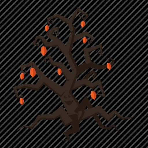 cartoon, decoration, fun, halloween, holiday, night, tree icon