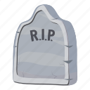 cartoon, decoration, fun, ghost, grave, halloween, monster