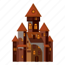 cartoon, castle, decoration, ghost, halloween, monster, spider