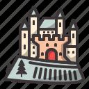 castle, creepy, halloween icon