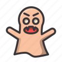 angry, ghost, halloween icon