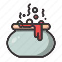 cauldron, death, halloween icon