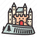 castle, creepy, halloween icon