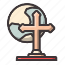 cross, halloween, moonlight icon