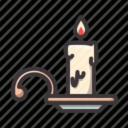 candle, eerie, halloween icon