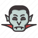 dracula, glaring, halloween icon