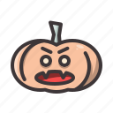 halloween, pumpkin, vampire icon