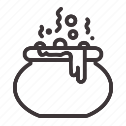 cauldron, death, halloween icon