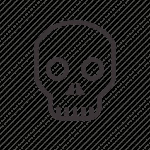 halloween, skull, staring icon
