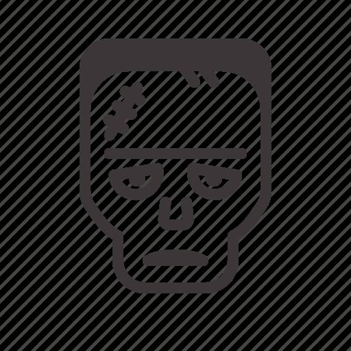 frankenstein, halloween, tired icon