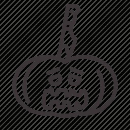 halloween, pumkin, tortured icon