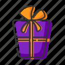 bow, box, gift, halloween