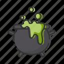 cauldron, halloween, poison, potion icon