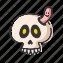 dead, halloween, horror, skull icon