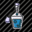 bottle, halloween, poison, potion icon