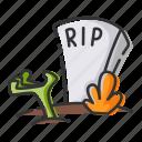 death, grave, halloween, zombies