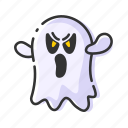 emoji, ghost, halloween, spooky icon
