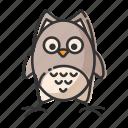 animal, bird, halloween, owl icon