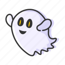 emoji, ghost, halloween, spooky icon
