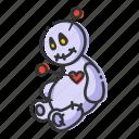 halloween, horror, toy, voodoo doll icon